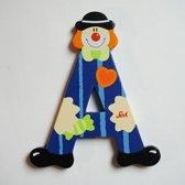 Sevi - Houten Clown Letter A - blauw
