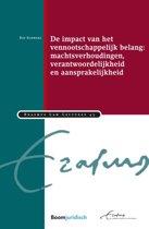 Erasmus Law Lectures 45 - De impact van het vennootschappelijk belang: machtsverhoudingen, verantwoordelijkheid en aansprakelijkheid