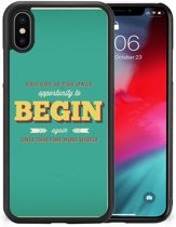 Apple iPhone Xs | X/10 Hoesje met Quotes Quote Begin