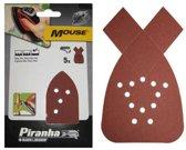 Piranha Mouse sparpack schuurstroken (5x K80, 5x K120, 5x K180), 20 stuks X31029