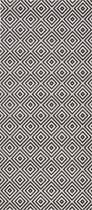 Binnen & buiten vloerkleed ruiten Karo - zwart/crème 160x230 cm