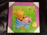 Winnie the pooh canvas schilderij