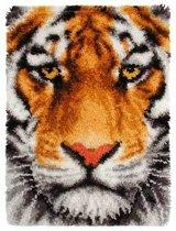 knoopkleed 38.016 tijger close-up (kant-en-klaar afgewerkt)