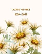 Calendar & Planner 2020-2024: Monthly Schedule Organizer - Agenda Planner for the Next Five Years, 60 Months Calendar, Appointment Notebook, Water C