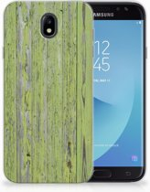 Samsung Galaxy J7 2017   J7 Pro TPU siliconen Hoesje Design Green Wood