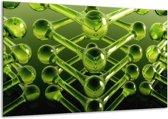 Glasschilderij Abstract   Groen   120x70cm 1Luik   Foto print op Glas    F003974