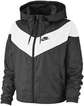Nike Nsw Hrtg Jkt Wndbrkr Dames Sportvest - Black/White/(Black) - Maat S