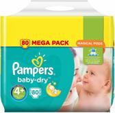Pampers Baby-Dry Luiers - Maat 4+ - 10 tot 15kg - 80 stuks