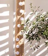 Lubanida Feestverlichting Wit – 20 Ballen – Blanco – Voor buiten