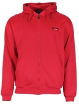 Donnay Fleece Full Zip Hoodie - Sweaters  - rood - XS