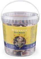 Pets Taste Duo Bones Kip&Rund&Lam - Hondensnacks - 450 g