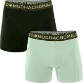 Heren - Muchachomalo 2-Pack Solid Boxershorts Groen - L