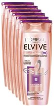 L'Oréal Paris Elvive Keratine Glad Shampoo - 6 x 250 ml - Voordeelverpakking