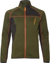 O'Neill Pm Tuned FZ Fleece Wintersportjas - Maat M  - Mannen - donker groen: zwart/ oranje