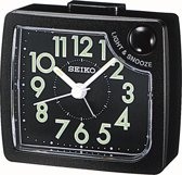 Seiko wekker met electronisch piep alarm - zwarte kunststof kast