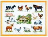 borduurpakket 70-6420 boerderij met dieren