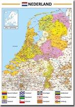 Poster kaart Nederland 70x100cm