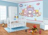 Fotobehang Sanrio, Hello Kitty | Blauw | 152,5x104cm