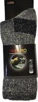 3-Pack Stevige Wollen Thermosokken met Badstof Voering STAPP 5400-699 - Grijs - Unisex - Maat 43-46