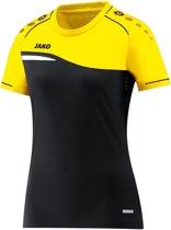 Jako Competition 2.0 Dames T-Shirt - Voetbalshirts  - zwart - 44