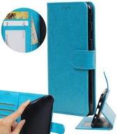 | Huawei P10 Lite Portemonnee hoesje booktype wallet Turquoise | WN™
