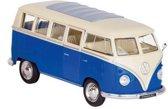 Welly Metalen volkswagen bus t1: blauw 13,5 cm