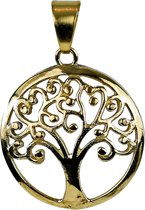 Yogi & Yogini naturals Tree of life hanger messing goudkleurig 3 cm