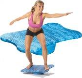 Trendy Sport - Bamusta Tablero - Balans bord voor gevorderd niveau - 9008 - 60 x 39 x 12 cm h - Blauw gemaleerd - 150 kg belastbaar