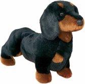 Pluche teckel hond knuffel 41 cm - knuffeldier