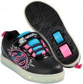Heelys Rolschoenen POW Zwart Roze - Sneakers - Kinderen - Maat 32 - LED lichtjes