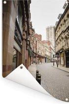 Engelse architectuur in de straten van Birmingham Tuinposter 120x180 cm - Tuindoek / Buitencanvas / Schilderijen voor buiten (tuin decoratie) XXL / Groot formaat!