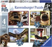 Ravensburger Secret life of pets Vier puzzels 12 16 20 24 stukjes