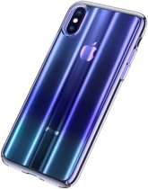 Baseus iPhone XS Max (Plus) Patterned Glitter Hard Cover Case Blue hoesje