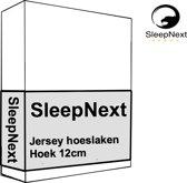 Luxe Hotel Jersey Topper hoeslaken - 180x200/210cm - wit