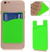 Groene kaarthouder - voor zowel Apple iPhone als Android Samsung