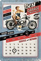 Nostalgic Art Metalen bord Best Garage calender