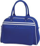 Bagbase Retro Schoudertas Bright Royal/White 23 Liter