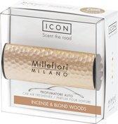 Millefiori Milano Auto parfum Incense & Blond Woods (Metal Shades)
