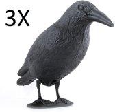 3x XL Duivenverjager Nep Kraai / Raaf - Duiven Verschrikker Vogelverschrikker - Vogel Verjager