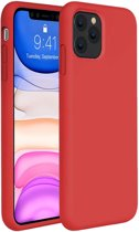 iPhone 11 Pro Hoesje Siliconen Case Hoes Back Cover TPU - Rood