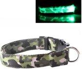 LED Halsband Camo GROEN- S