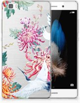 Huawei Ascend P8 Lite Uniek TPU Hoesje Bird Flowers
