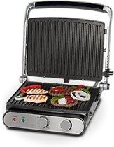 MEDION MD 16054 Elektrische Tafelbarbecue - 2000W - Zwart/Zilver