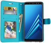 Samsung Galaxy J6 2018 portemonnee hoesje - Turquise