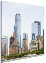 FotoCadeau.nl - Freedom tower Manhattan Aluminium 40x60 cm - Foto print op Aluminium (metaal wanddecoratie)