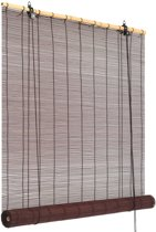 Rolgordijn 140x160 cm bamboe donkerbruin