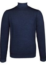 OLYMP Level 5 - heren coltrui wol - marine blauw (Slim Fit) -  Maat XXL