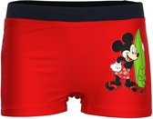 Mickey Mouse zwembroek rood maat 104
