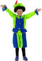 Pietenpak Blauw/Groen - 3 delig - Maat S - 103/116 - 3-5 jaar - Carnavalskleding