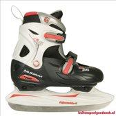 Nijdam IJshockeyschaats Junior - Verstelbaar - oranje/zwart - Maat 34-37